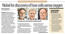 Η ανακοίνωση του βραβείου Νόμπελ στην Ιατρική και Φυσιολογία κάθε χρόνο είναι ένα ορόσημο για την παγκόσμια Ιατρική ερευνητική κοινότητα, η οποία αναγνωρίζει, μέσα από το βραβείο, τις καλύτερες επιστημονικές εργασίες ανάμεσα στα μέλη της. Το 2019 το βραβείο δόθηκε σε ερευνητές που ανακάλυψαν το πως τα κύτταρα προσαρμόζονται σε κυμαινόμενα επίπεδα οξυγόνου μέσα στο σώμα, ανοίγοντας το δρόμο για την ανάπτυξη νέων στρατηγικών καταπολέμησης σοβαρών ασθενειών, όπως η αναιμία και ο καρκίνος.