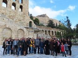 Eκπαιδευτική περιήγηση του συλλόγου Μεταπτυχιακών Φοιτητών και Υποψηφίων Διδακτόρων στο Τμήμα Κοινωνικής Θεολογίας και Θρησκειολογίας στο ΕΚΠΑ (από το facebook του συλλόγου).