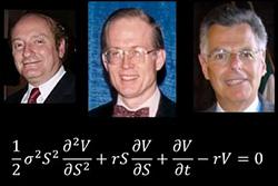 Η εξίσωση Black–Scholes η πιο σωστά το Black–Scholes–Merton μοντέλο για τη δυναμική εξέλιξη μιας αγοράς παραγώγων (δηλαδή συμβολαίων που βασίζονται στην μελοντική τιμή μιας μετοχής), είναι από τις πιο διάσημες εξισώσεις στα Οικονομικά, με τους δημιουργούς της να βραβεύονται με βραβείο Νόμπελ. Η κοστολόγηση παραγώγων στις χρηματαγορές παλιότερα γίνονταν με πολλούς διαφορετικούς τρόπους, που αποκαλύφθηκαν λανθασμένοι με την ανακάλυψη της εξίσωσης αυτής. Οι Black, Scholes, και Merton, με μεγάλη διορατικότητα και προς έκπληξη όλων, ανακάλυψαν πως η αναμενόμενη απόδοση μιας μετοχής δεν θα πρέπει να λαμβάνεται υπ'όψη στην κοστολόγηση συνηθισμένων παραγώγων της μετοχής αυτής. Δηλαδή, ακόμα και αν δύο επενδυτές διαφωνούν για το αν η αξία μιας μετοχής θα αυξηθεί ή θα μειωθεί στο μέλλον, θα πρέπει να κοστολογούν με τον ίδιο τρόπο παράγωγα της μετοχής αυτής.