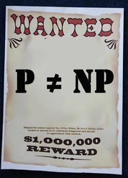 Είναι ή όχι το P ίσο με το NP; Πρόκειται για το διασημότερο άλυτο πρόβλημα στην θεωρία της Πληροφορικής, ένα από τα επτά προβλήματα του βραβείου Μιλλέννιουμ (Millennium Prize) από το Ινστιτούτο Μαθηματικών Κλέι για το οποίο υπάρχει αμοιβή 1 εκατομμύριο δολλάρια για την πρώτη σωστή λύση. Σε απλουστευμένη διατύπωση το πρόβλημα ρωτάει αν όλα εκείνα τα προβλήματα τα οποία μπορούμε να ελέγξουμε σε σύντομο χρόνο αν έχουμε τη σωστή λύση, μπορούν επίσης να επιλυθούν και σε σύντομο χρόνο. Μάλλον όχι, αλλά κανείς δεν μπορεί να είναι βέβαιος μέχρι να αποδειχθεί.